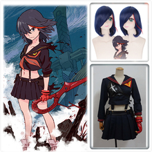 Customized KILL la Ryuko Matoi Cosplay Costumes Japanese Anime Party Halloween Costume For Women Girls Dress with Wig