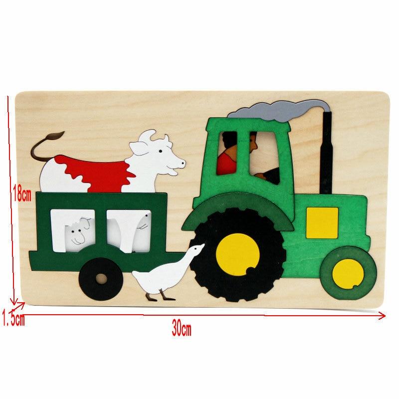 Gratis frakt barn / barn pedagogiska träleksaker multilayer tecknad - Spel och pussel - Foto 3
