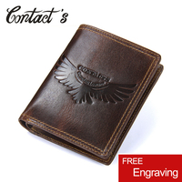 Small Vintage Bag Genuine Leather Men Wallets Coin Pocket Short Wallet With Zipper Multifunctional Money Purse For Card Holder