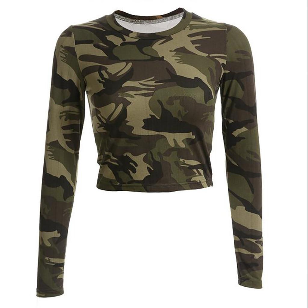 2103626c2b2 MIARHB   ZG4 новая горячая мода 2019 Бесплатная доставка Женская  камуфляжная рубашка с длинным рукавом Повседневная