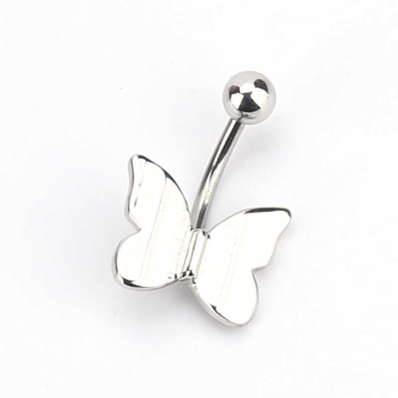 Đơn giản bướm mặt dây chuyền nghệ thuật cơ thể thủng Belly Navel nail thép không gỉ đục lỗ đồ trang sức