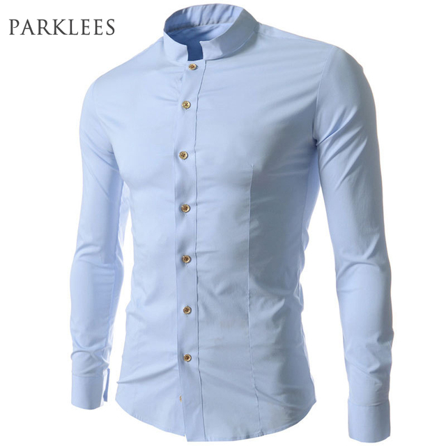 02dc77b83c7 New Men Shirt Chemise Homme 2015 Fashion Design Long Sleeve Mens Slim Fit  Dress Shirts Casual Brand Stylish Camisa Masculina