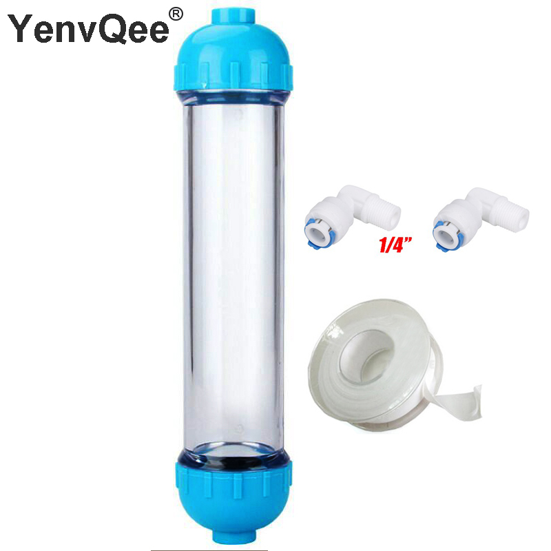 1PCS T33 WATER FILTER Cartridge Housing DIY T33 Shell Filter Bottle 2pcs Fittings Water Purifier For Reverse Osmosis System