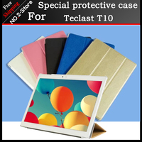新しいウルトラスリムpuレザーケース� eclast t10 10.1インチタブレットpc、三つ折りスタンドケースカバー用teclast t10 5色利用できる
