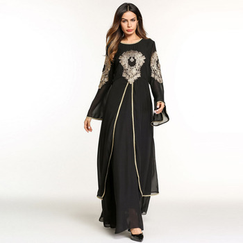 islamic clothing for women muslim Long sleeve Dress abaya dubai ...