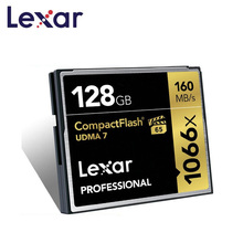 Lexar cf 카드 128 gb 1066x 플래시 메모리 카드 최대 160 메가바이트/초 full hd 3d 및 4 k 비디오 메모리 카트 용 전문 compactflash 카드