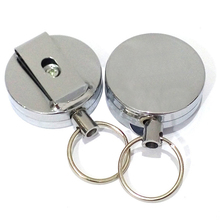2 pcs Fly Fishing Retractable Zinger Reel Cord Retractor Stainless Steel Clip Tool
