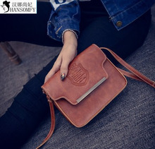 HANSOMFY     2015 New Winter Fashion Handbags Crown Word Postman Small Bag Shoulder Bag Wholesale.