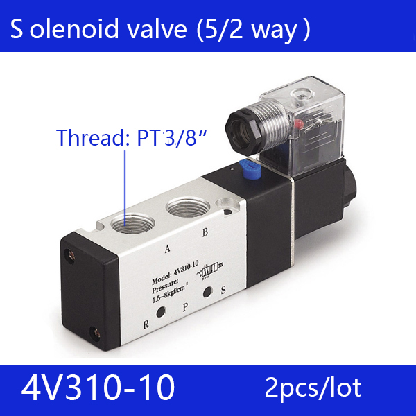 2pcs free shipping good qualty 5 port 2 position Solenoid Valve 4V310-10,have DC24v,DC12V,AC24V,AC110V,AC220V 20pcs free shipping good quality 5 port 2 position solenoid valve 4v310 10quality have dc24v dc12v ac24v ac110v ac220v