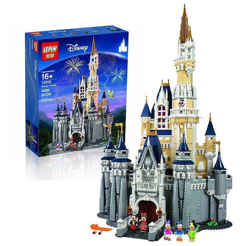 LEPIN 16008 Creator Cinderella Princess Castle City 4080pcs Building Block Compatible Legod Friends for Girl 71040 lepin 16008 4160pcs cinderella princess castle city model building block kid educational toys for gift compatible legoed 71040