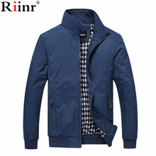RIINR New 2019 Jacket Men Fashion Casual Loose Mens