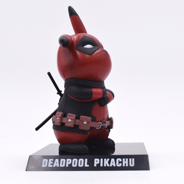 Genuine Deadpool Action Figure Pikachu Cosplay Deadpool Collectible Model Toy 15cm Pikachu Doll Superhero Toys FREE SHIPPING 4