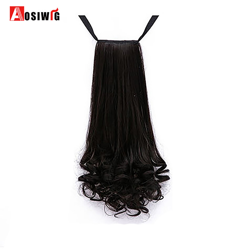 Hot Sale Aosi Wig Ponytail Long Curly Heat Resistant Women Synthetic
