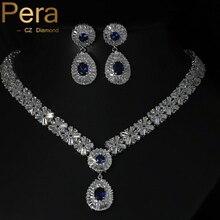 Dubai Diseño Simulado Zafiro Topacio Blanco Azul Real Partido de Las Mujeres de Piedra Grande de Cristal Sistemas de La Joyería Con El Oro Blanco Plateado J062
