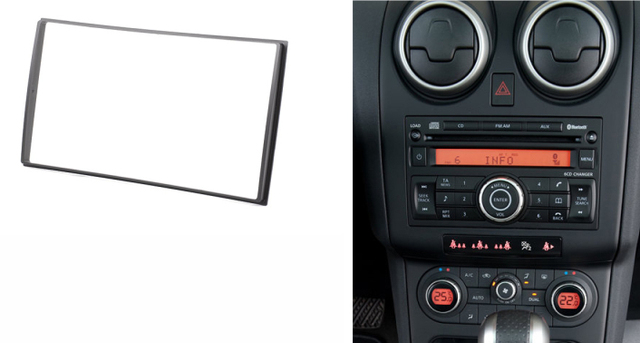 double din facia for nissan tiida x trail qashqai patrol. Black Bedroom Furniture Sets. Home Design Ideas