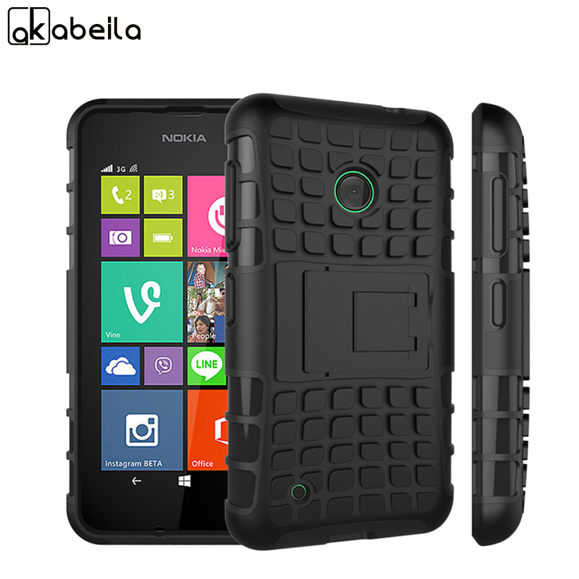 AKABEILA Mobile Phone Cases For Nokia Lumia 530 N530 Shell Covers Armor Hybrid Defender Tyre Bags Case Lumia 530 Skin Shell Hood