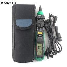 MASTECH MS8211D ручка-Тип цифровой мультиметр с проводами AC DC Вольт Ампер с сопротивление, Ом Multi Тестер диагностический -инструмент