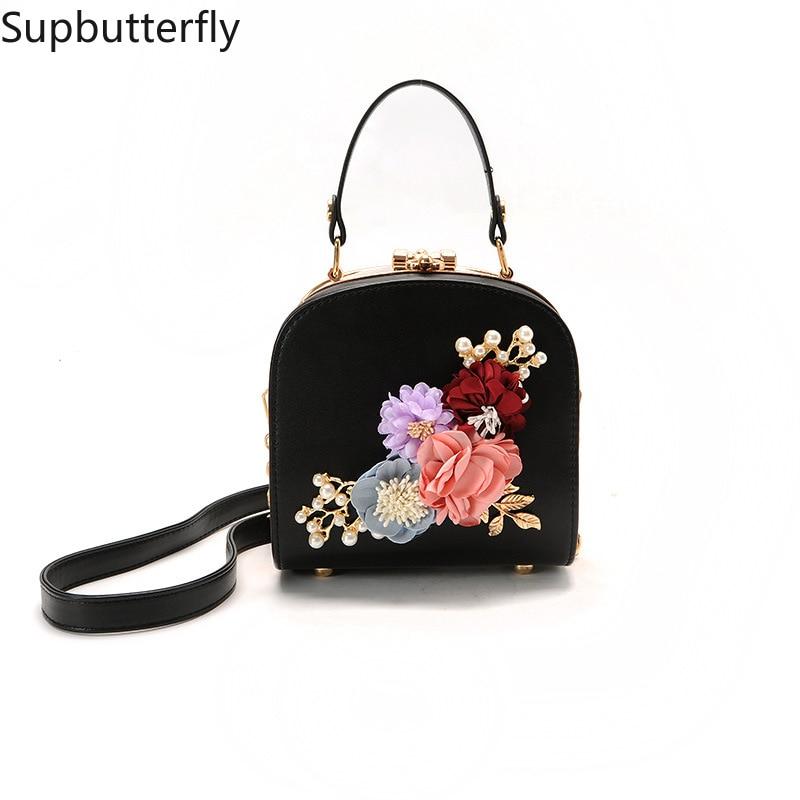Women bag box Bag National style flowers embossed lock single shoulder bag handbags bags for women 2018 1