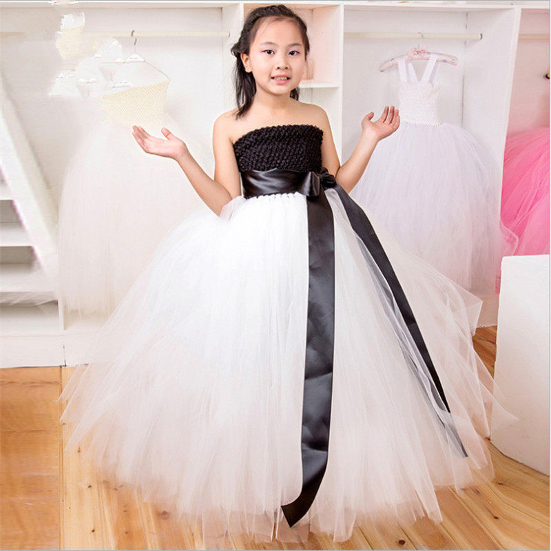 все цены на Girls Wedding Dress Tulle Princesse Tutu Dress Baby Kids Enfant Girl Pageant Birthday Bridesmaid Party Dresses Children Costume онлайн