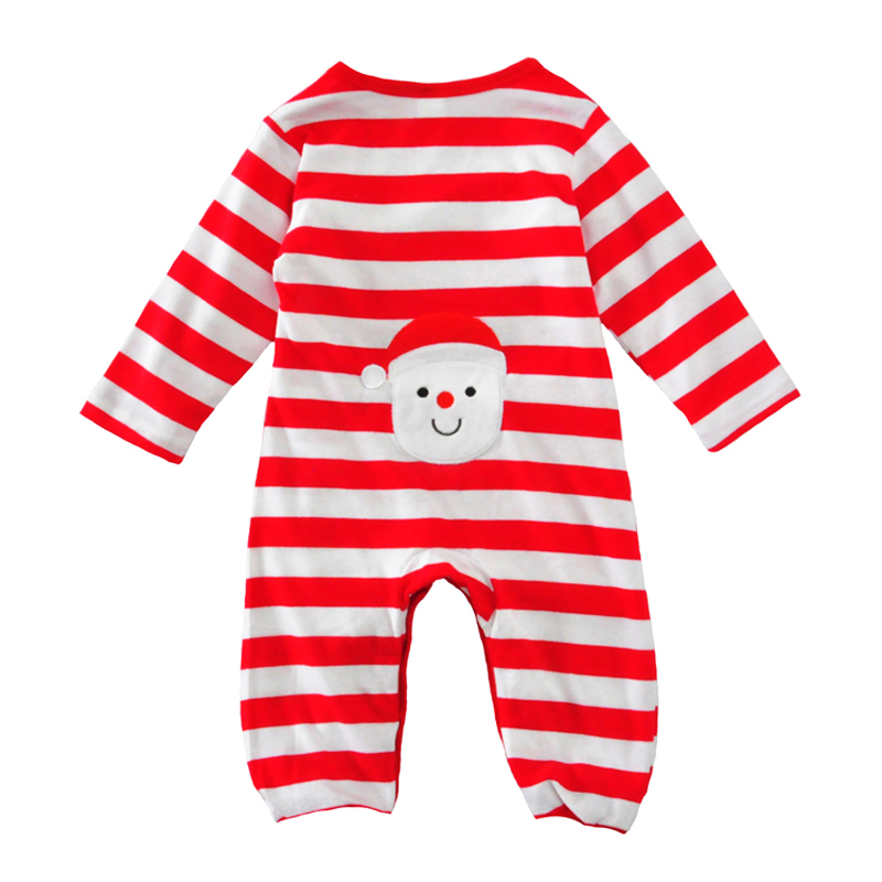 Christmas baby boy romper red striped baby girl rompers long sleeve autumn 2017 infant baby clothes jumpsuit for girls boys cute newborn baby rompers baby clothing 100% cotton infant jumpsuit ropa bebe long sleeve girl boys rompers costumes baby romper