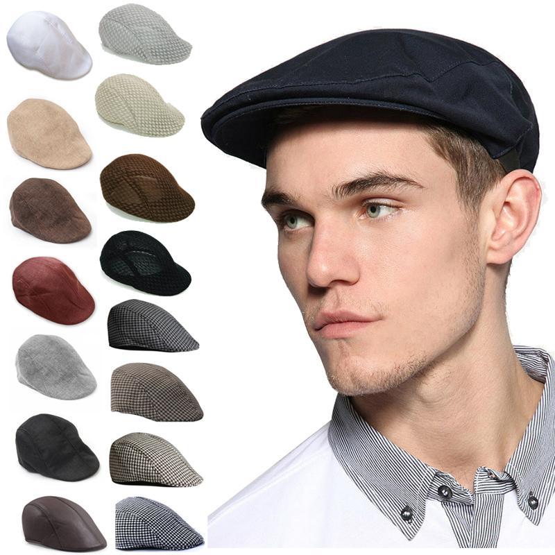 ④Inglaterra estilo sólido primavera invierno sombreros para las ...