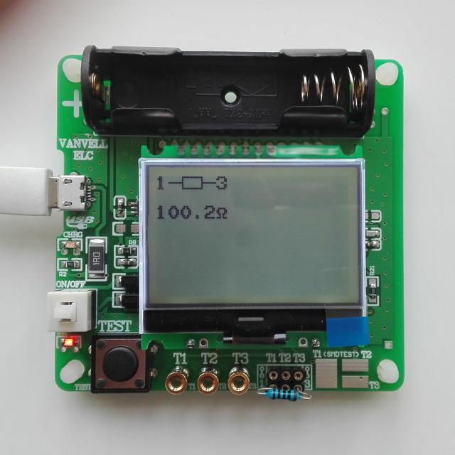 Versão mais recente do indutor-capacitor ESR Mega328 metros DIY MG328 multifunções testador, testador de transistores