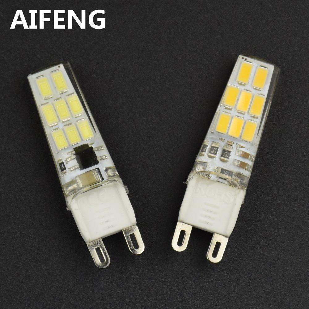 AIFENG 10PCS silicone G9 led bulb 220V 230V 240V warm white cool white smd 5730(5733) lamp g9 light bulb led lights for home