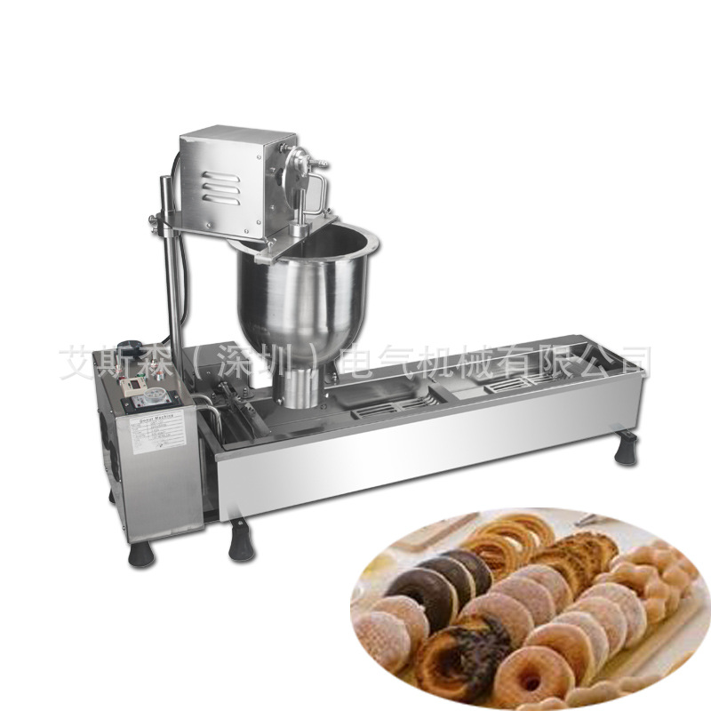 Electric Auto Cake Donuts Maker Multi Functional Donut Making Machine Stainless Steel Doughnuts Machine Fryer