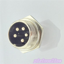 1pcs GX16 5 Pin Male CircularL105Y Diameter 16mm Wire Panel Aviation Connector Socket High Quality On Sale