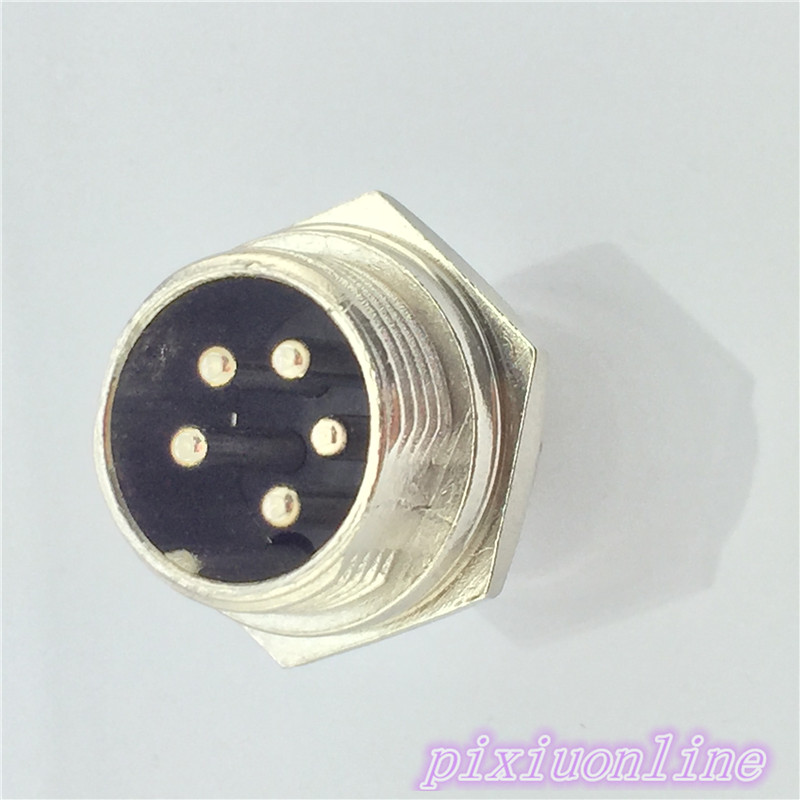 1pcs <font><b>GX16</b></font> <font><b>5</b></font> <font><b>Pin</b></font> Male CircularL105Y Diameter 16mm Wire Panel Aviation Connector Socket High Quality On Sale image