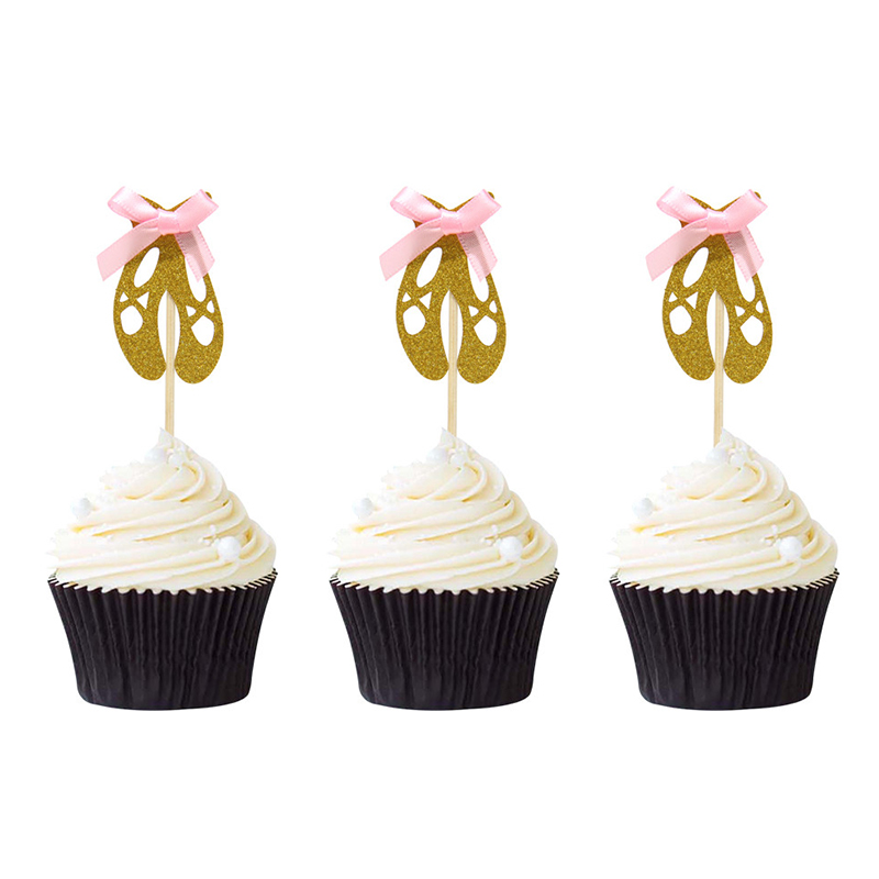 12PCS Ballerina Cupcake Toppers for Wedding Birthday Party Supplies