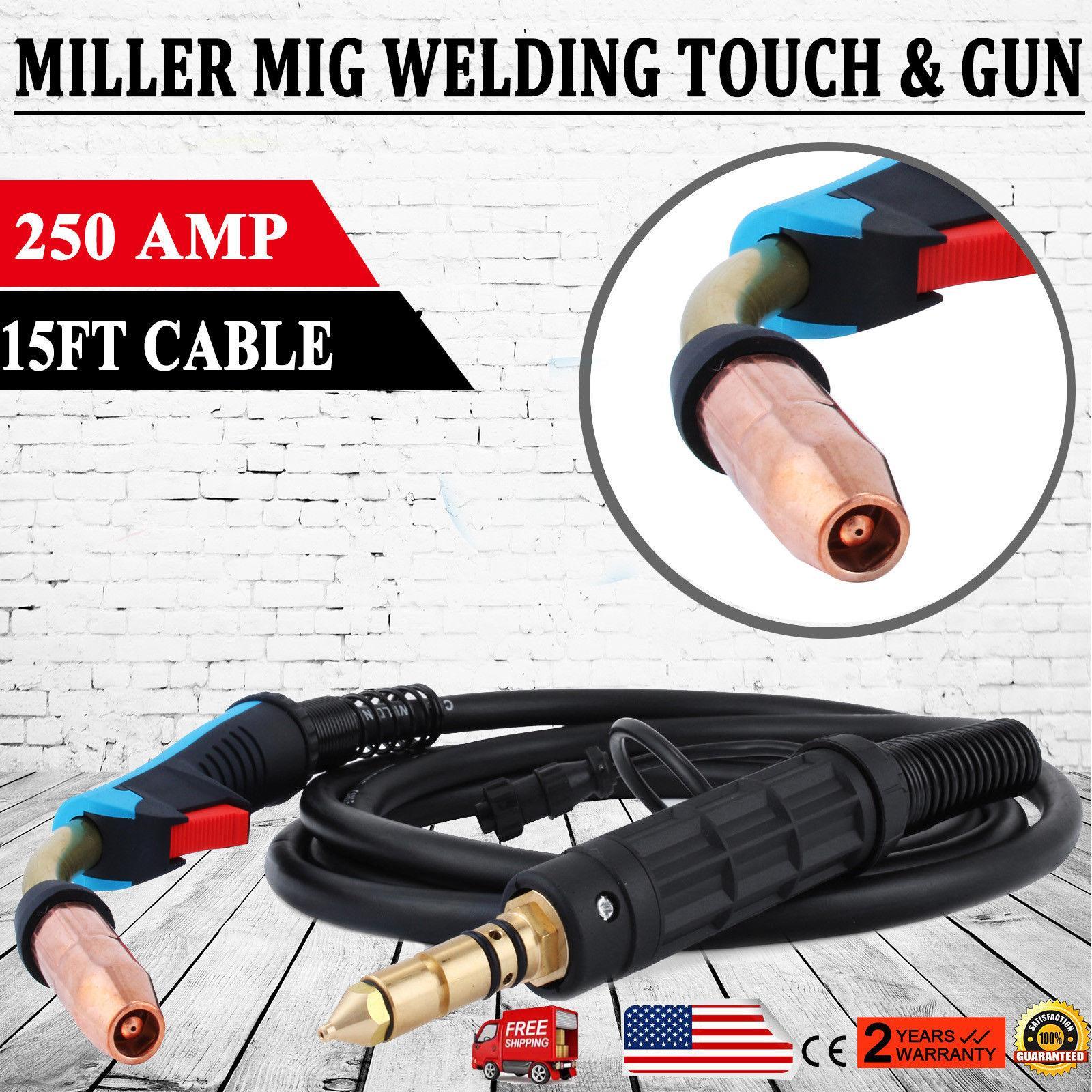 все цены на M25 MIG Welding Torch Miller HTP 169598 250Amp 15ft Stinger Welder Gun Parts New