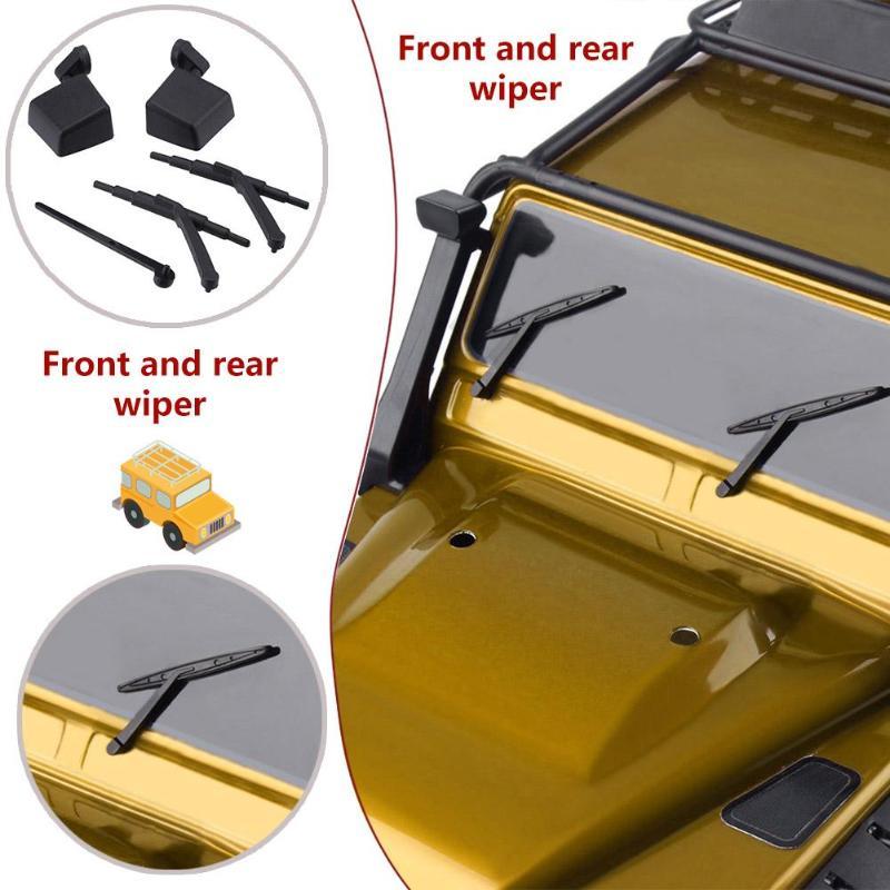 5 in 1 Door Handle Wiper Reflector for 1//10 RC Crawler Car Traxxas TRX4 A#S
