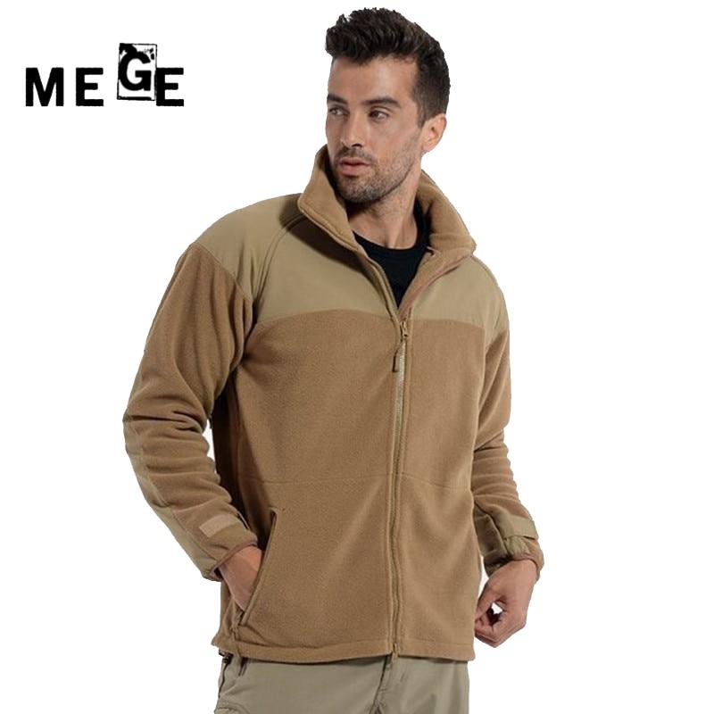 ФОТО MEGE Men Jackets Autumn Winter Tactical Fleece Thermal Coat, Men Hunting Jacket, Military Army Training Sportswear