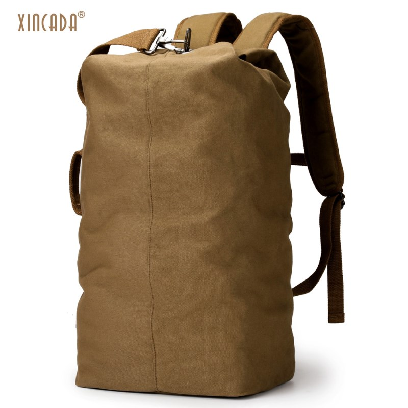 XINCADA Duffle Bag Travel Bag Men Travel Backpacks Canvas Backpack Vintage Rucksack Large Capacity Backpack crazy horse genuine leather messenger bags men travel business crossbody shoulder bag for man sacoche homme bolsa masculina