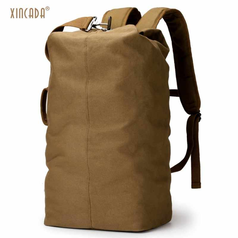 717d5badab Detail Feedback Questions about XINCADA Duffle Bag Travel Bag Men Travel  Backpacks Canvas Backpack Vintage Rucksack Large Capacity carry on backpack  ...