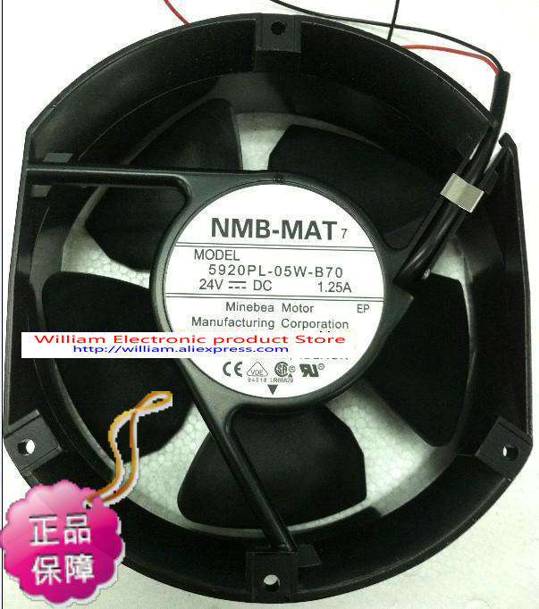 New Original NMB 5920PL-05W-B70 172*51MM  DC24V 1.25A Inverter axial cooling fan new original nmb 4715sl 05w b60 dc24v 1 2a 12038 inverter waterproof cooling fan