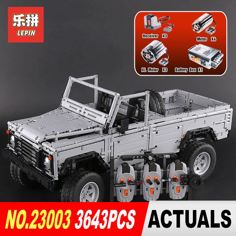 Lepin 23003 3643 pz serie Technic Creativo MOC RC Selvaggio off-road veicoli modello di Costruzione di Blocchi di Mattoni SUV giocattoli per i regali dei ragazzi