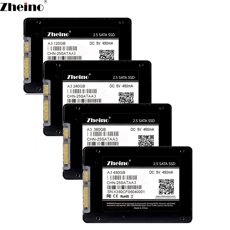 Zheino A3 2.5 SATA 120GB 240GB 480GB SSD 7mm 3D Nand 128GB 256GB 512GB Interna Solid State Drive For Laptop Desktop PC