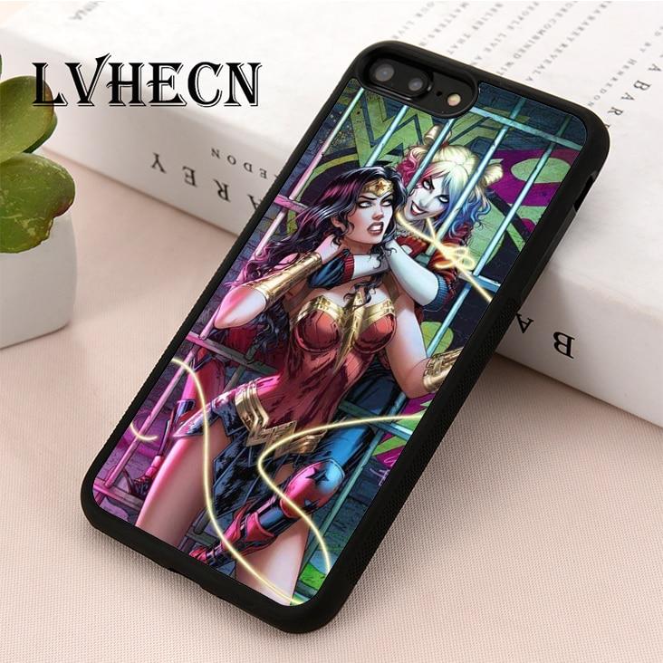 WONDER WOMAN Vs HARLEY QUINN iphone case