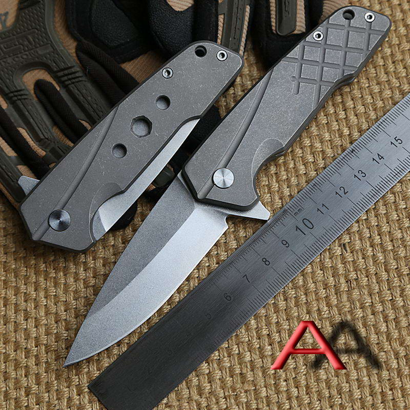 Ben OEM ZT2017 Folding font b knife b font Titanium handle S35VN blade steel Flipper bearing