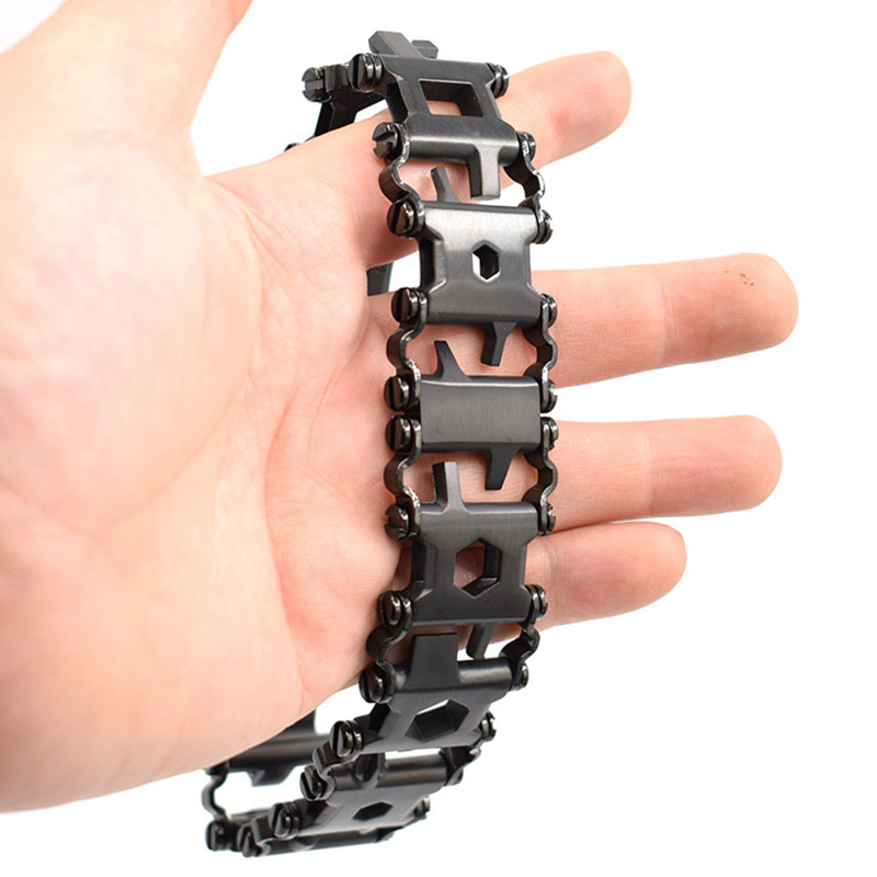 Bracelet épissé extérieur pour hommes EDC Bracelet de survie multifonctionnel avec tournevis