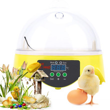 220V Mini 7 Eggs Incubator Fully Auto Digital LED Turning Chicken Duck Hatcher Egg Incubator Hatcher Machine