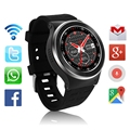 Zgpax s99 smart watch mtk6580 quad core 3g android 5.1 telefone com 8 GB 5.0 MP GPS WiFi Bluetooth V4.0 Freqüência Cardíaca pk AN1