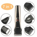 Compact Size KM-590A KEMEI Multifunctional 7 In 1 Low Noise Hair Clipper Trimmer Beard Razor Electric Shaver Machine Set