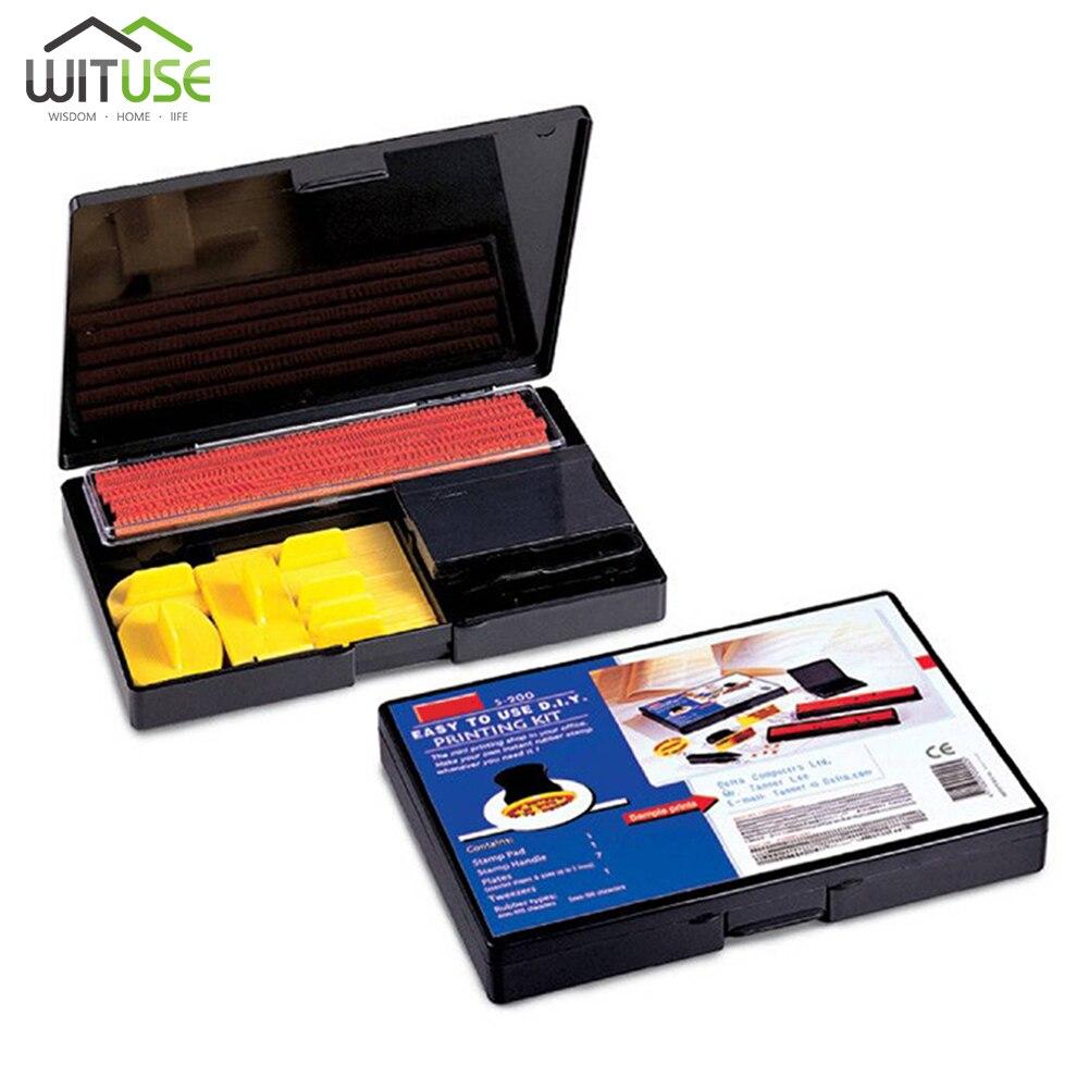 S-200 joint bricolage en caoutchouc timbre Kit d'impression caractères alphanumériques mobile combinaison imprimante de bureau 4mm/5mm deux Types de caoutchouc ensemble