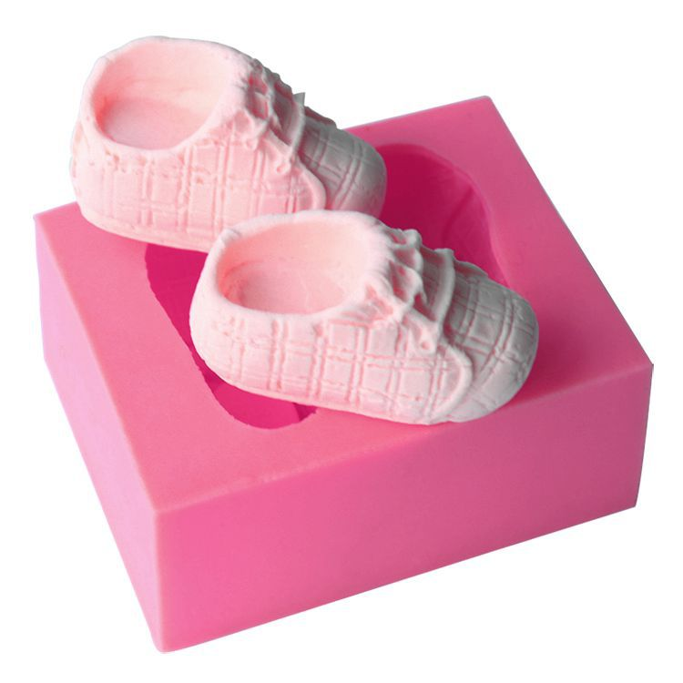 3D Silicone Baby shoes Fondant Mould For Cake Decorating DIY - Κουζίνα, τραπεζαρία και μπαρ
