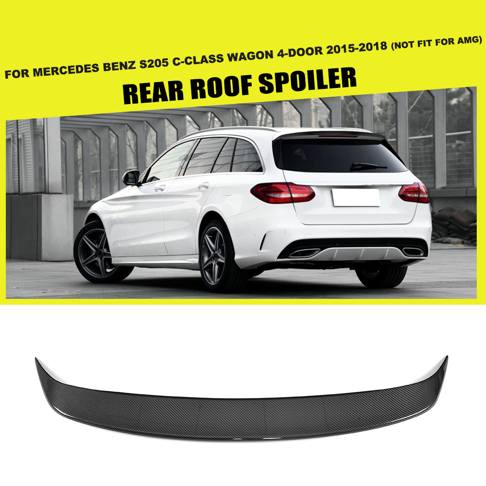 Carbon Fiber Rear Roof Spoiler Window Wing Frp Black For