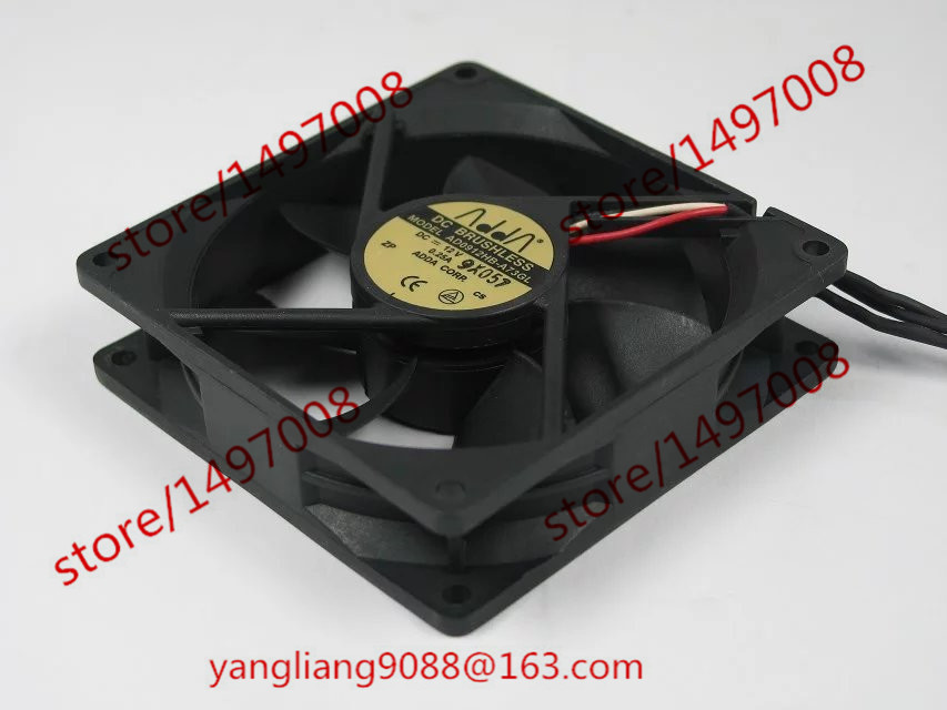 ADDA  AD0912HB-A73GL DC 12V 0.25A 3-wire 3-pin connector 90mm 90x90x25mm Server Square Cooling Fan