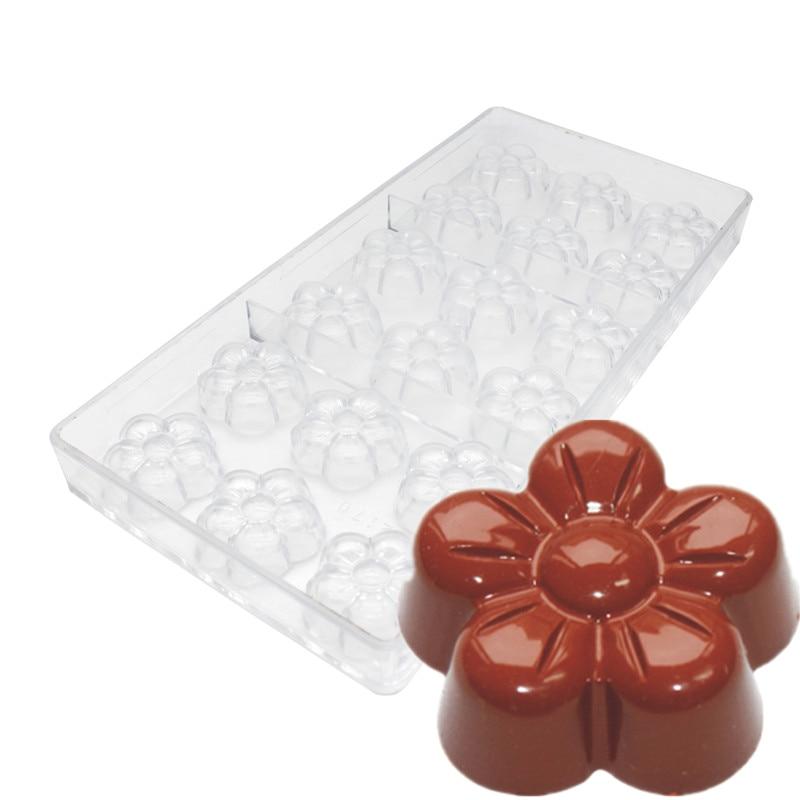 Goldbaking Flower Candy Stampi In Policarbonato Cioccolato Stampo Plum blossom PC Muffa Del Cioccolato